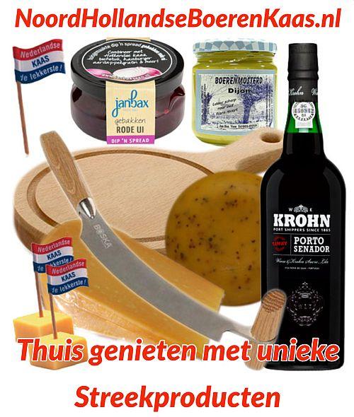 Bestel een Kaaspakket voor Thuis of als Cadeau - Kaaspakket - Maak je eigen borrelplank - www.NoordhollandseBoerenkaas.nl