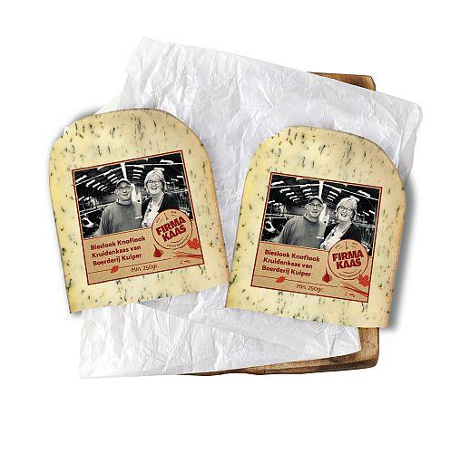 Boeren knoflook bieslook kaas - de Firmakaas - www.NoordHollandseBoerenkaas.nl