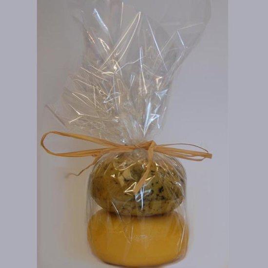 Boerenkaas pakket 2 - twee kleine kaasjes in kado verpakking - Kaaskado - boerenkaasje 400 gram - www.noordhollandseboerenkaas.nl