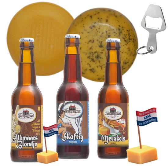 Cadeaupakket Kaas en Bier plezier - kaaskado bestellen - www.NoordHollandseBoerenKaas.nl