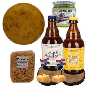 Kaaskado Man - Kaaspakket met Bier en Mosterd - Kaaspakket Cadeau - Kaaspakket Kado - Kaaspakketten - Kaasgeschenk KaasCadeau - www.NoordHollandseBoerenkaas.nl