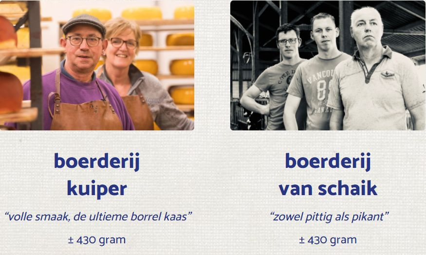Kies je boerenkaas - BoerenKaas door de brievenbus - oude kaas laten bezorgen - kaas bestellen bij DeFirmaKaas - www.NoordHollandseboerenkaas.nl