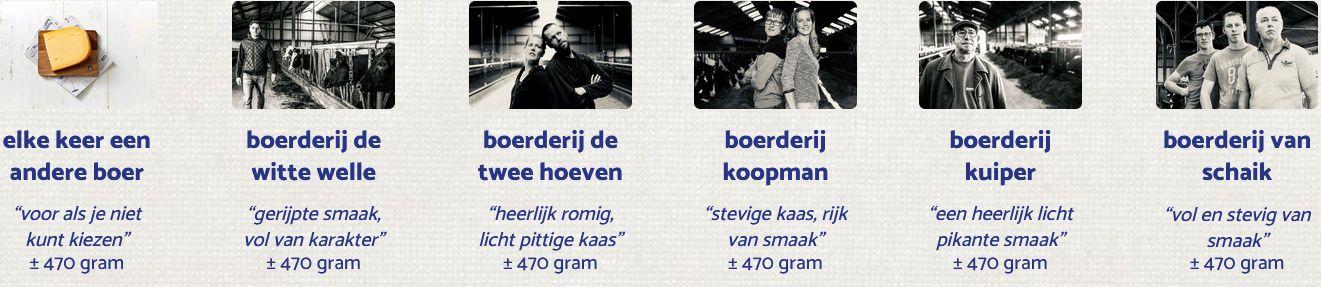 Kies je Noord-Hollandse boerenkaas - BoerenKaas door de brievenbus - kaas laten bezorgen - kaas bestellen bij DeFirmaKaas - www.NoordHollandseboerenkaas.nl