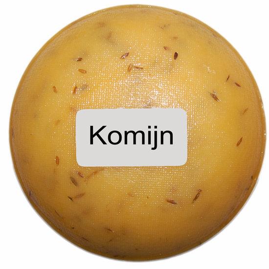 Klein kaasjes Komijn - boerenkaasje 400 gram - www.noordhollandseboerenkaas.nl