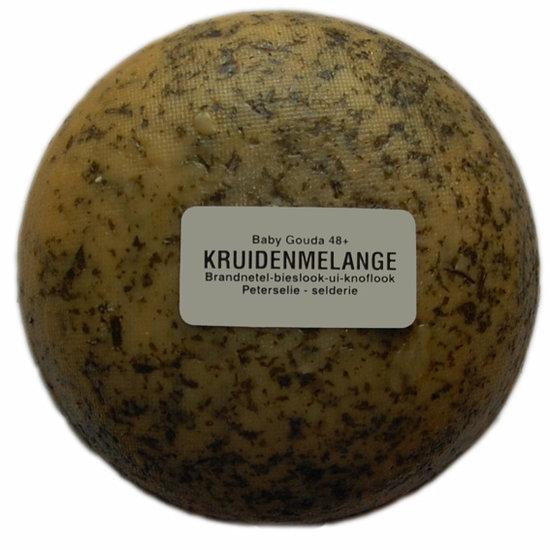 Klein kaasjes Kruiden melange - boerenkaasje 400 gram - www.noordhollandseboerenkaas.nl