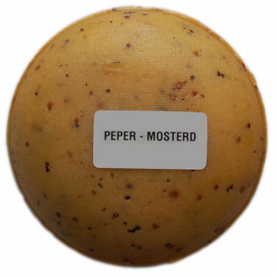 Klein kaasjes Peper-Mosterd - boerenkaasje 400 gram - www.NoordHollandseBoerenkaas.nl