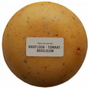 Klein kaasjes Tomaat-Knoflook - boerenkaasje 400 gram - www.noordhollandseboerenkaas.nl